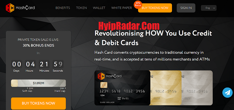 [SCAM] Review ICO HashCard [HSHC] - Start 01, May, 2018