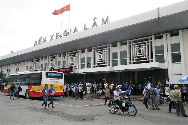 gia lam bus station hanoi vietnam