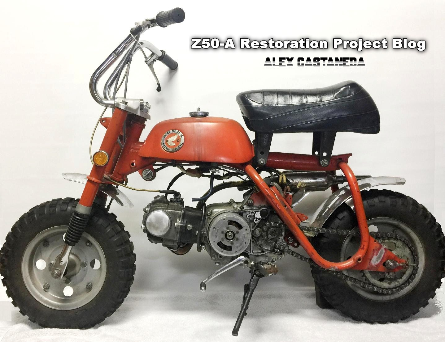 Custom Restoration Project 3 Mini Trail Z50 Monkey 1970 Honda 50 This K1 Is The Donor For My Latest Abomination Operation Went Without A Hitch