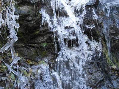 ice, waterfall, nature of poetry, spiritual nature