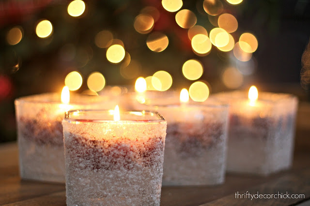 cranberry epsom salt candles