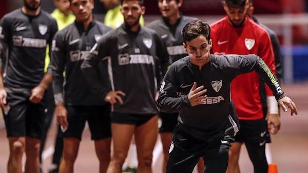 Málaga, hoy entrenamiento y rueda de prensa de Víctor Sánchez