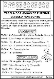 Futebol em Belo Horizonte olimpíadas 2016