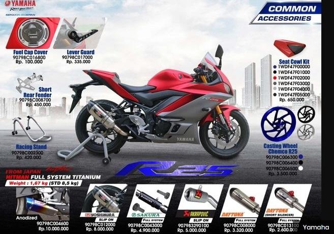 Daftar Aksesori Resmi Pabrikan Yamaha