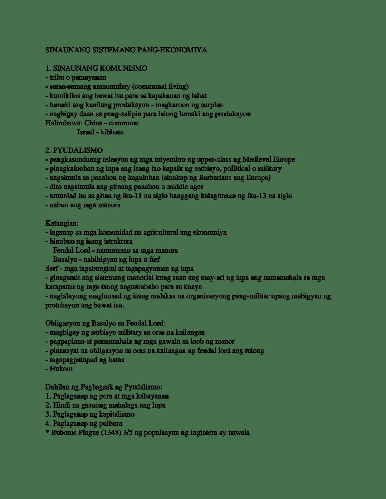 sistemang pang ekonomiya Encomienda system ang sistemang encomienda ay isang polisiyang pang-ekonomiya na itinakda ng pamahalaang espanya, sa pamumuno ni miguel lopez de legaspi noong unang yugto ng kanilang.