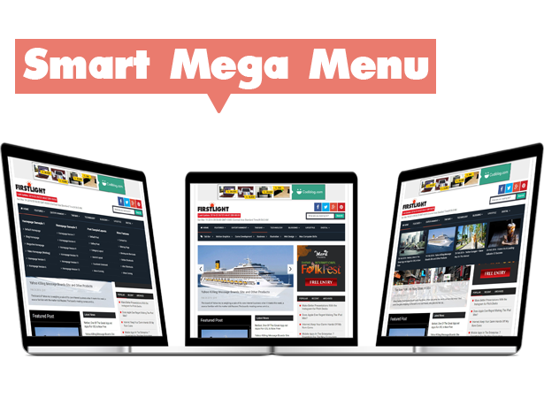 mega menu blogger template
