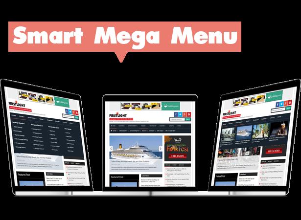 mega menu blogger template