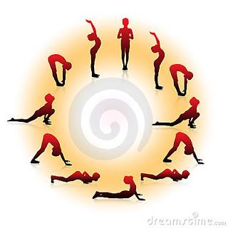 paz amor e yoga surya namaskar