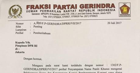 Kabar Mengejutkan, Gerindra Mundur dari Pansus Angket KPK