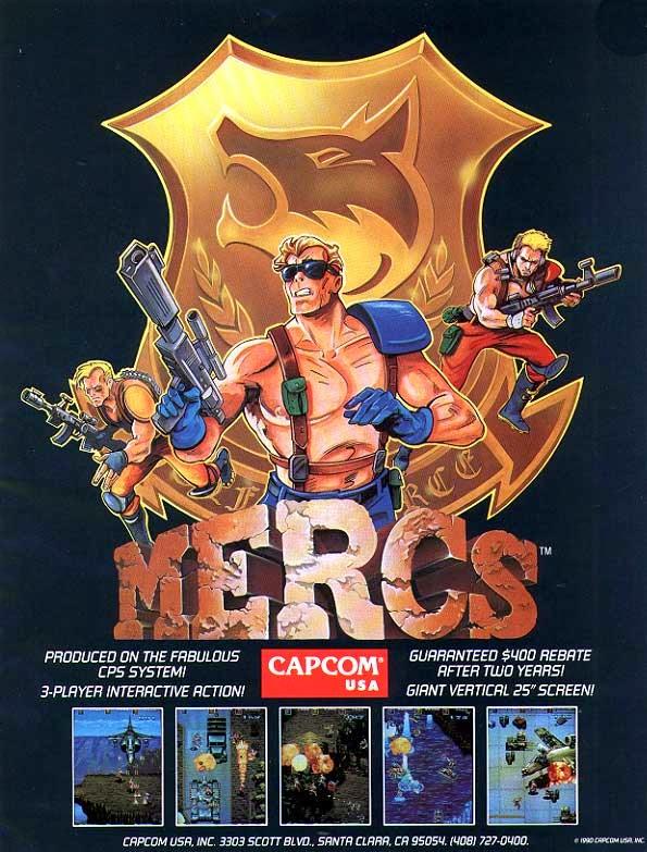 Mercs+arcade+game+portable+art+flyer