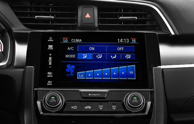 Novo Honda Civic 2017 - EXL - interior