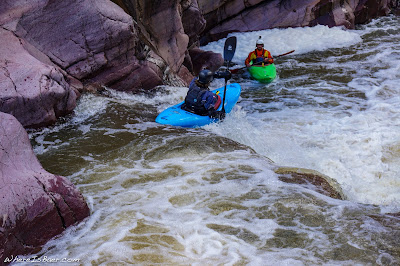 Ted Decker launching his way into Christopher Creek, Arizona AZ WhereIsBaer.com Chris Baer, kayaking slot canyon cristopher creek