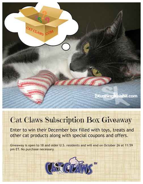 Cat Claws subscription box giveaway ad