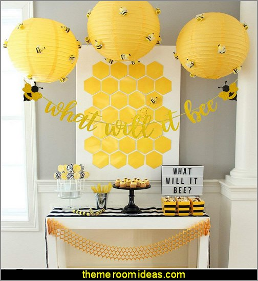 What Will It Bee Gold Glitter Banner for Bumble Bee Gender Reveal Party Baby Shower Decoration   bee themed party - bumble bee decorations - Bumble Bee Party Supplies - bumble bee themed party - Pooh themed birthday party - spring themed party - bee themed party decorations - bee themed table decorations - winnie the pooh party decorations - Bumblebee Balloon -  bumble bee costumes