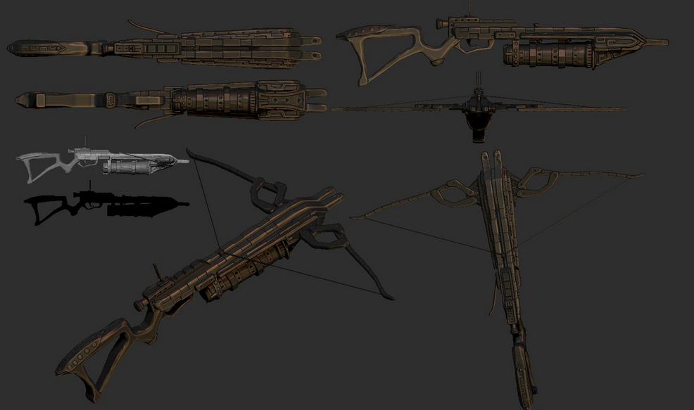 Fantasy Crossbow Concept Art