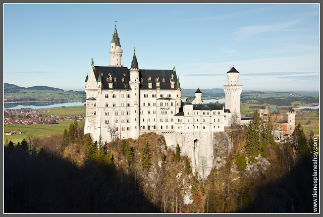 Castillo de Neuschwanstein desde Marienbrücke