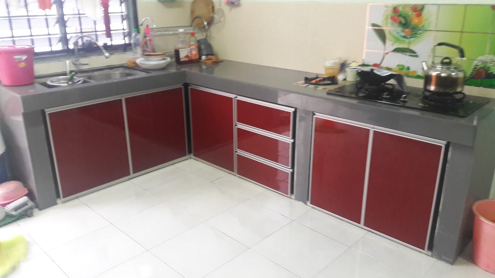 Kabinet Dapur Tanah Merah Desainrumahid