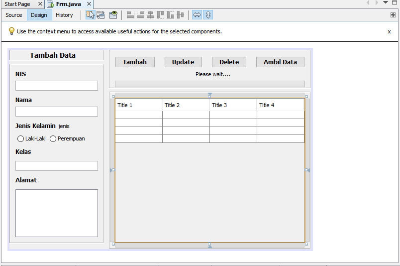 Cara Mudah Membuat Aplikasi CRUD OOP Java Netbeans | INI