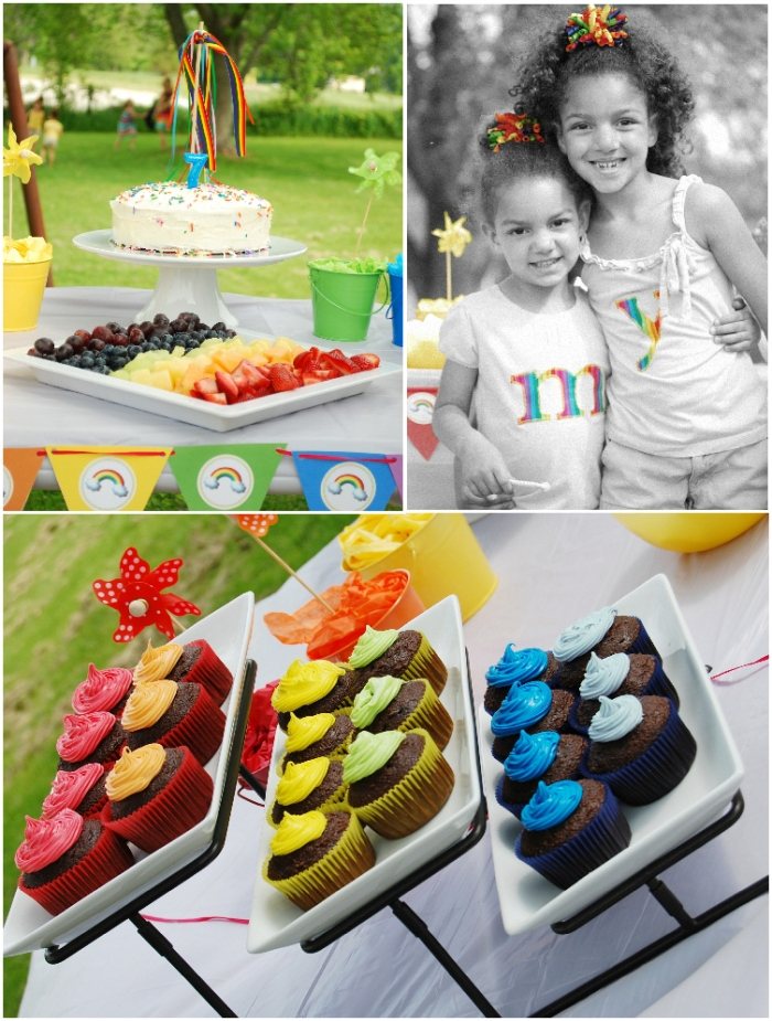 Rainbow Birthday Party Printables and Ideas - via BirdsParty.com