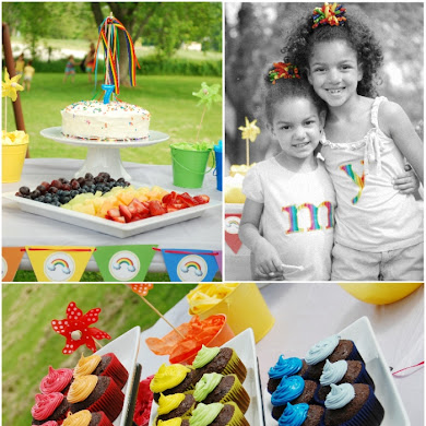 A Rainbow 7th Birthday Party