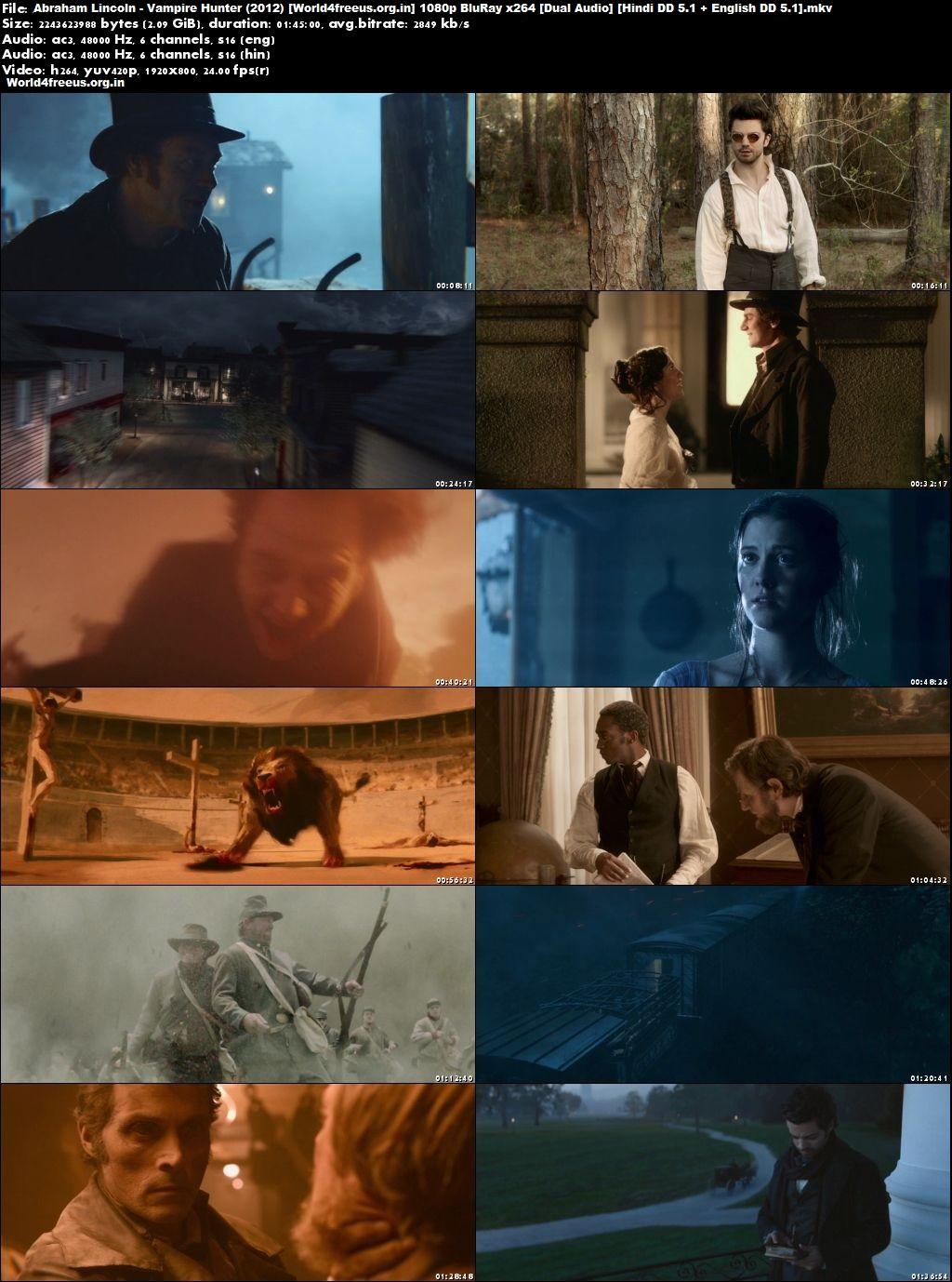 Abraham Lincoln: Vampire Hunter 2012 BRRip 1080p Dual Audio In Hindi English