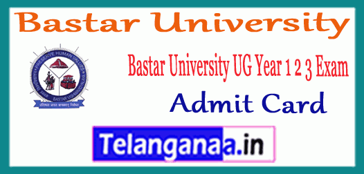 Bastar University Annual Exam UG 1st 2nd 3rd Year Time Table