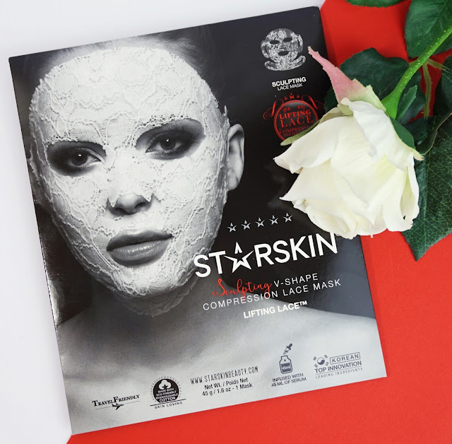 STARSKIN - Lifting Lace™ V-Shape Compression Lace Mask, Tuchmaske, Spitzen, Spitzenmaske, Sheetmask, Mask, Facemask, Anti-Aging, Straffung, Kieferpartie