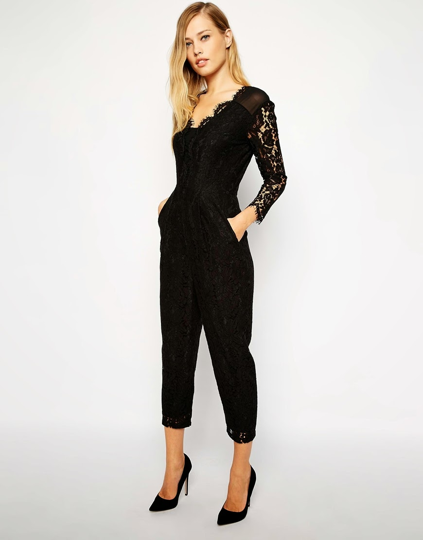 b5512d77802 An absolute 10 on all fronts here for this lace detail jumpsuit by Whistles.