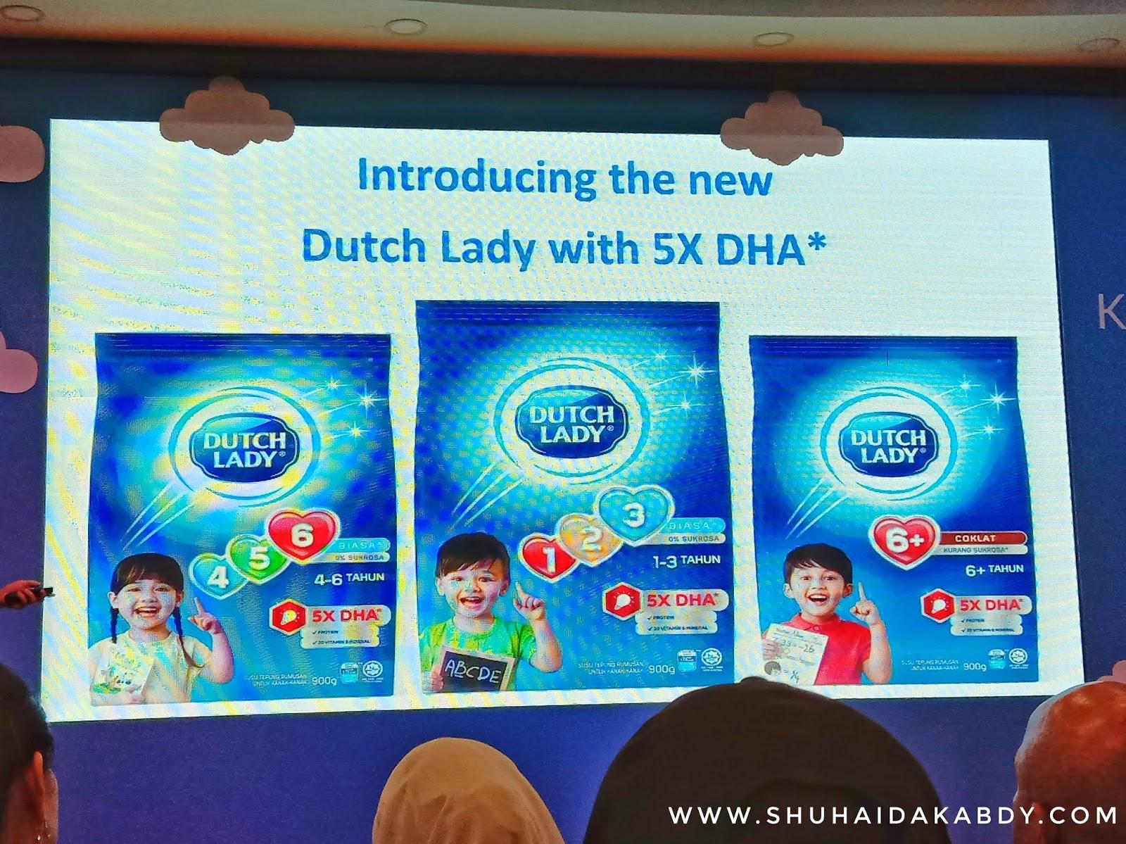 Pelancaran Susu Dutch Lady Terbaru Dengab Rumusan DHA Tertinggi