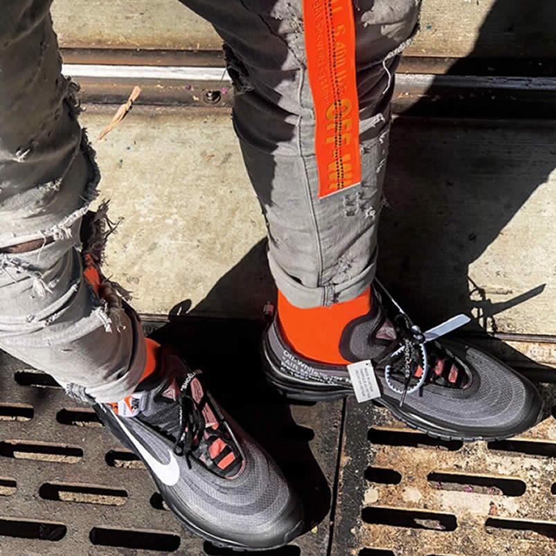 a010a439939 AnpKick Brand Street Footwear  Off-White x Nike Air Max 97 OG  All Black  Cone  AJ4585-001