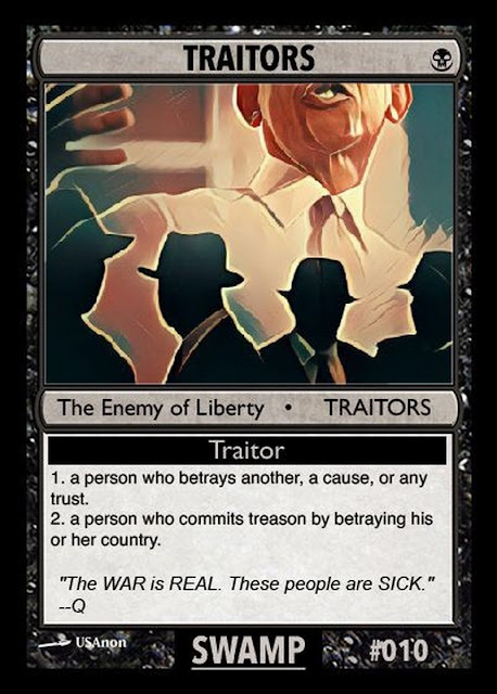 Collectable Q Anon Card Deck -- For the Avid Freedom Fighter! 10%2BTraitors