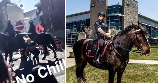 Video: Estudiante nalguea a caballo para cumplir un reto