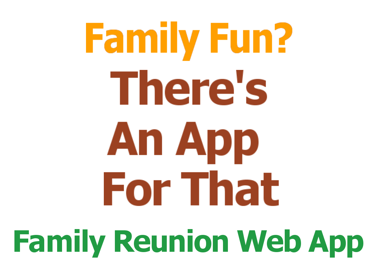 Family Reunion Planning Guides Apps And Books Event