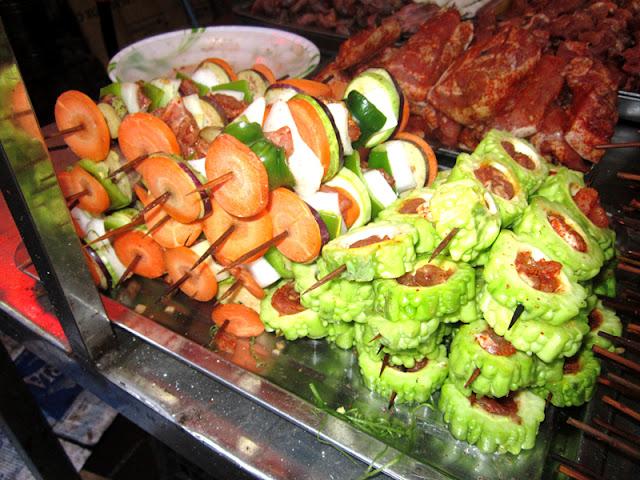 Grilled Skewered Food in Sapa