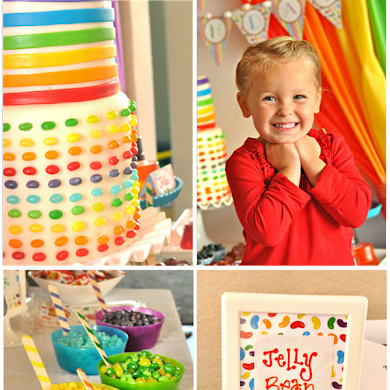Rainbow Jelly Bean Birthday Party Ideas