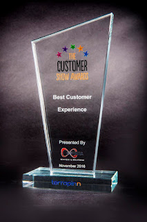 Customer Show award p[resented to Qatar for Best Customer Experience
