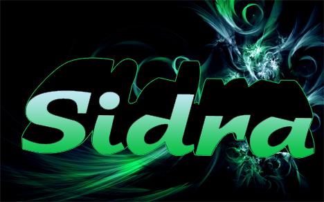 Sidra Name Wallpaper