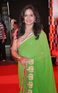 green-saree
