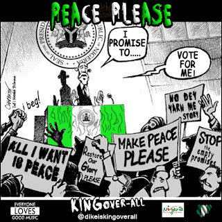 """Sensational Peace Song titled """"PEACE PLEASE"""" by KINGover-all."""