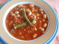 pochas guisadas con verduras