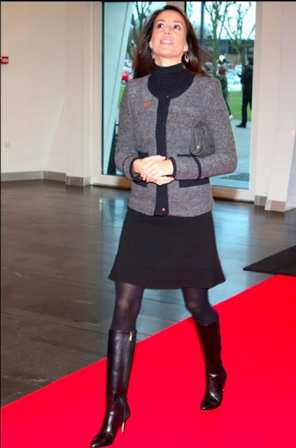 Princess Marie of Denmark attend the opening, as patron of the national association for Autism, the conference