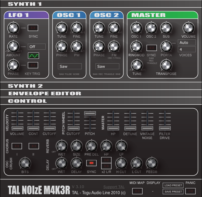 A Large Archive of VST Plugins for FL Studio: TAL - NoiseMaker