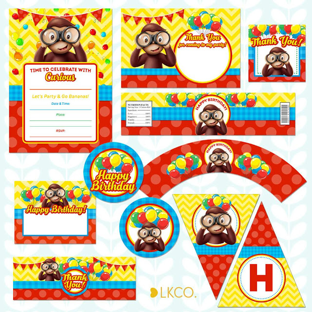 picture about Curious George Printable titled Curious George Occasion Printables - Absolutely free