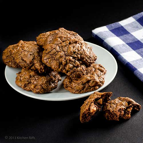 Deep Dark Chocolate Cookies
