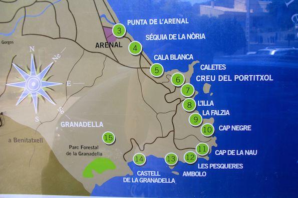Villa Iciar Cala Blanca Javea Mapa Javea