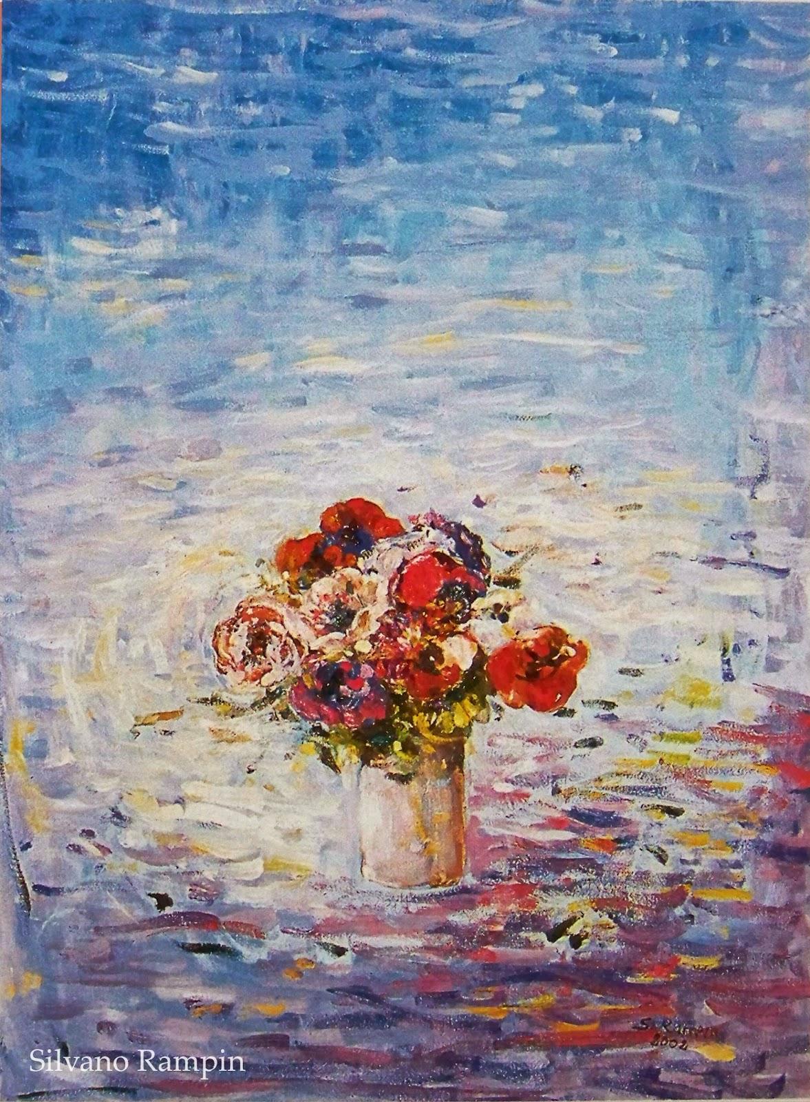 Quadri Ad Olio Fiori | F002 075100 001b Apd Art Painting Decoration