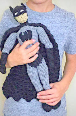Crochet amigurumi batman doll