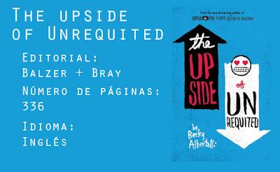 The Upside of Unrequited. Editorial Balzer + Bray. 336 páginas. Inglés.