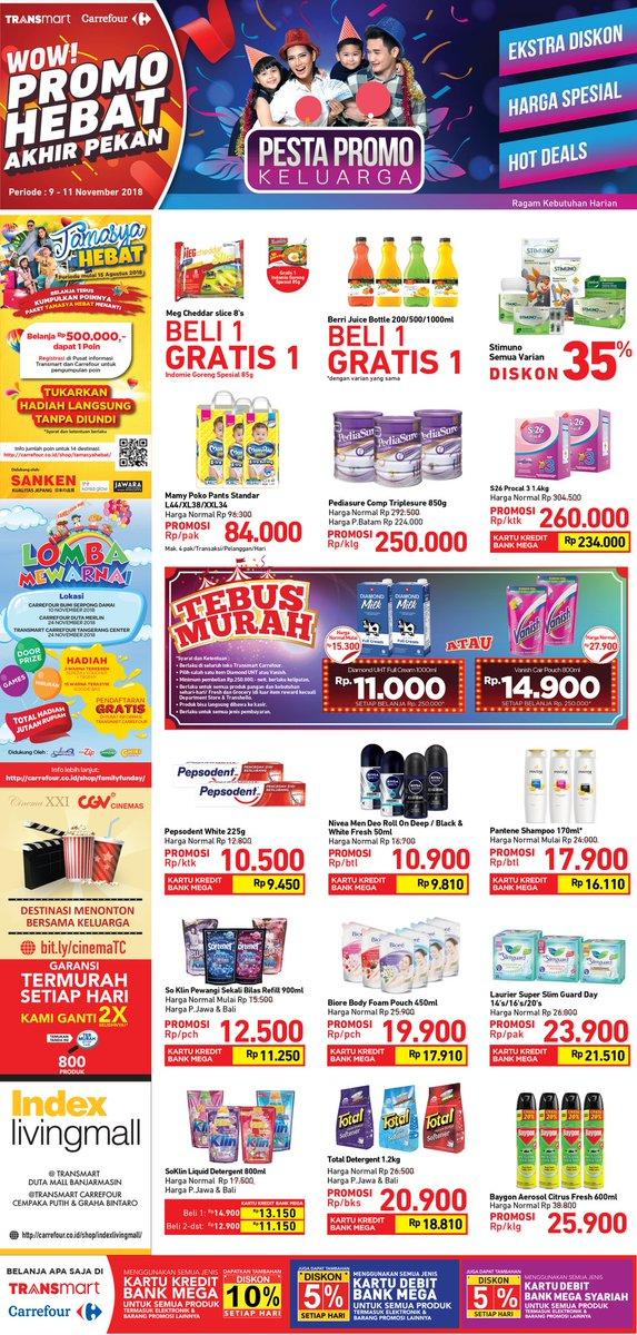 Carrefour - Promo Katalog Hebat Akhir Pekan Periode 09 -11 November 2018
