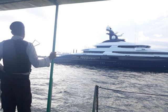 Mabes Polri menyita sebuah kapal pesiar bernilai Rp 3,5 triliun di Pelabuhan Benoa, Bali